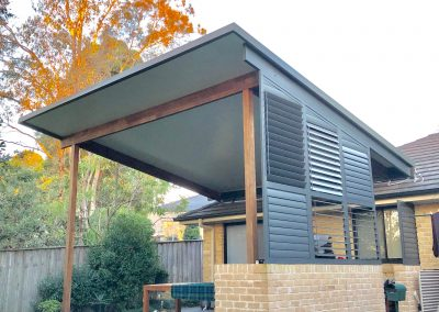 Alley insulated pergola roofing